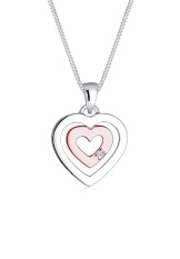 Jual Beli Elli Germany 925 Sterling Silver Kalung Heart Be Color Diamond Putih Di Bali