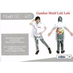 Elmondo Fino Jas Hujan Remaja Setelan Baju Celana Tipe 605 Transparan - Motif Anak Laki Laki