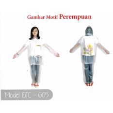 Elmondo Fino Jas Hujan Remaja Setelan Baju Celana Tipe 605 Transparan - Motif Anak Perempuan