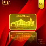 Toko Emas King Halim Logam Mulia King Halim Motif Masjid Istiqlal Jakarta 5 Gram Fine Gold 999 9 Bersertifikat Murah Di Indonesia