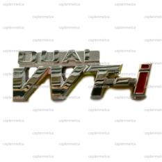 Aksesoris Mobil Emblem DUAL VVTI Logo Bodi Body Mobil Metal Sticker Stiker Toyota New Great Avanza Calya Kijang Innova Rush Agya Sienta Fortuner Rush Honda HR-V Mobilio Brio Satya BR-V Jazz Daihatsu Xenia Gran Max Sigra Ayla Terios Luxio Sirion Hi-Max
