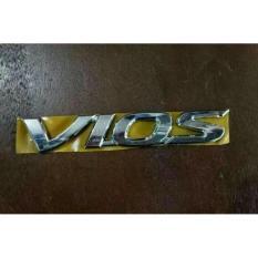 emblem original tulisan VIOS chroom