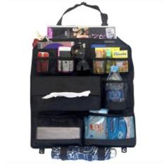 EMWE CO Car Seat Organizer tas aksesoris mobil tempat tisue majalah HP tas di belakang jok sofa mobil- Black