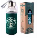 Emyli Botol Kaca Tumbler Glass Bottle Starbucks Air Minum Panas Dingin Sarung Logo Starbucks Original