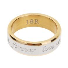 Pertunangan Selamanya Cinta Pasangan dari Baja Tahan Karat Cincin Perhiasan Aksesoris (Gold)-10-Intl