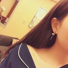 Menikmati Perasaan Di Korea Gaya Minimalis Tiruan Mutiara Anting-Anting Panjang Rumbai Modis Temperamen Wanita Angin Wanita Semua-Cocok Anting-Anting- internasional