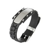 Spesifikasi Korea Gaya Pria S Bracelet Fashion Titanium Steel Watch Gelang Sabuk Pria Kepribadian Hadiah Hitam Intl Yang Bagus Dan Murah
