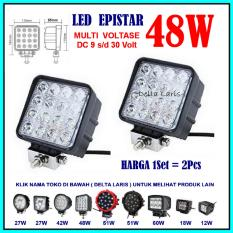 Pro parts epistar 2 pcs Lampu Sorot LED 48 Watt Lampu Tembak LED Spot Light Work Light LED 48W 12 V - 24 V 12 Volt - 24 Volt untuk Mobil Motor Offroad Truk Alat berat