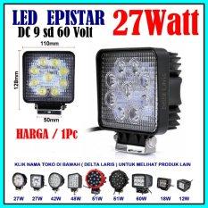 Epistar Lampu sorot LED offroad Square 27W LED Work Light Spot Light- untuk mobil - truck