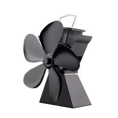 ERA Premium 5 Blades Heat Powered Stove Fan Fuel Saving Solid Aluminum Stove Fan Eco-friendly Household Stove Fan Blower black - intl