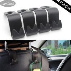 Esogoal Mobil Kendaraan Back Seat Headrest Organizer Hanger Storage Hook For Belanjaan Bag Handbag Black 4 Pack Esogoal Diskon 30