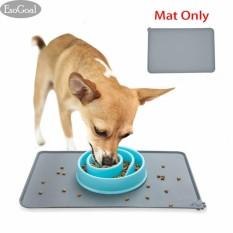 Spek Esogoal Pet Food Silicone Mat Waterproof Non Slip Makan Hewan Peliharaan Makan Mat Pet Bowl Mat Pet Feeding Tray Untuk Kucing Dan Anjing Intl Esogoal