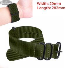 Harga Esogoal Premium Nylon Watch Band Kanvas Watchband Straps Lebar 20Mm Panjang 282Mm Fullset Murah