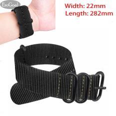 Jual Esogoal Premium Nylon Watch Band Kanvas Watchband Straps Lebar 22Mm Panjang 282Mm Satu Set