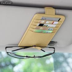 EsoGoal ET Kartu Sunglass Penyimpanan Holder Bag Pouch Pemegang Peta Kredit Kartu For Truk Kendaraan Otomatis SUV (Putih)