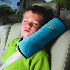 EsoGoal Sabuk Pengaman Penutup untuk Anak-anak, Menyesuaikan Kendaraan Bantalan Bahu Bantal, Sabuk Pengaman Mobil Protector Cushion, Plush Soft Auto Seat Belt Strap Pad Penutup Headrest Leher Dukungan untuk Anak-anak Bayi Dewasa Sabuk Pengaman (Biru)