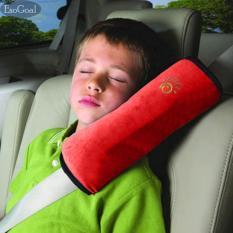 EsoGoal Sabuk Pengaman Penutup untuk Anak-anak, Menyesuaikan Kendaraan Bantalan Bahu Bantal, Sabuk Pengaman Mobil Protector Cushion, Plush Soft Auto Seat Belt Strap Pad Penutup Headrest Leher Dukungan untuk Anak-anak Bayi Dewasa Sabuk Pengaman (Merah)