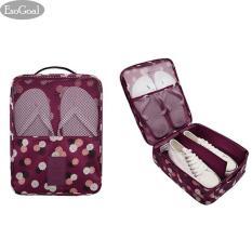 Review Esogoal Tas Sepatu Tas Travel Tahan Air Sepatu Toe Organizer Case Holder 3 Pasang Sepatu Rose
