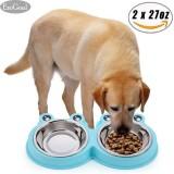 Beli Esogoal Stainless Steel Dog Bowl Set 2 27 Oz Untuk Setiap Mangkuk Cocok Untuk 70Lbs Hewan Peliharaan Hadiah Bagus Untuk Anjing Kucing Dan Hewan Peliharaan Lainnya Intl Dengan Kartu Kredit