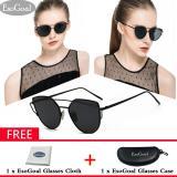 Harga Esogoal Kucing Mata Sunglasses Mirrored Flat Lensa Bingkai Logam Women Eyewear With Case Hitam Abu Abu Esogoal Terbaik
