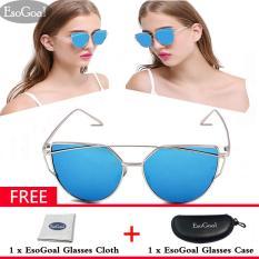 Harga Esogoal Wanita Kacamata Hitam Sunscreen Anti Uv Warna Film Vintage Eyewear Aksesoris Sunglasses Mode Online Tiongkok