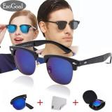 Spek Esogoal Vintage Folding Sunglasses Men Women Classic Fashion Eyewear Foldable Mirror Sun Glasses With Hard Case Intl Esogoal