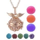 Toko Essential Oil Diffuser Locket Necklace Pendant Perhiasan Dengan 3 Cotton Refill Bola Dan 5 Lava Stone Bead Emas Silver Intl Dekat Sini