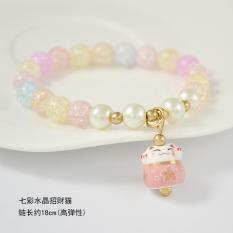 Romantis M·PARTY Tali merah DIY gelang perempuan Tahun kelahiran monyet Gantungan mutiara sintetis Kristal