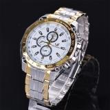 Harga Etop Stainless Steel Olahraga Kuarsa Analog Jam Tangan Wrist Watch Emas Lengkap