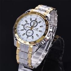 Beli Etop Stainless Steel Olahraga Kuarsa Analog Jam Tangan Wrist Watch Emas Cicilan