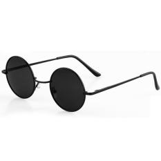 ETOP Retro Kacamata Hitam Kacamata Lepas Penyu Bingkai Lensa Bulat