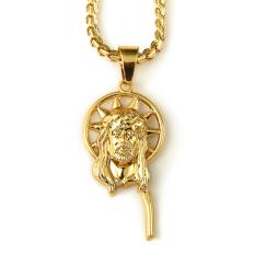 Eropa dan Baru 18 K Perhiasan Kalung Emas Yesus Trendsetter Hip-hop Rap Trendsetter
