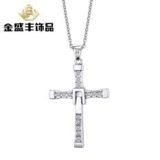 Europe And The United States Men's Jewelry Speed And Passion 7 Cross Necklace Pendant Micro-jewelry Necklace PN-313 (Color: With O Chain) - intl