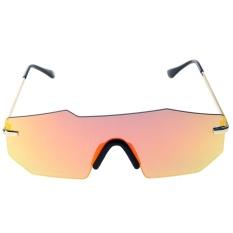 Eropa Unisex Dipersonalisasi Dua Cermin Balok Kacamata (Merah Quicksilver)-Intl