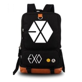 Harga Exo Backpack Women Men Rucksack Travel Gym Laptop Bag Schoolbag(Black) Intl Termurah