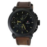Promo Expedition E6612M Jam Tangan Pria Hitam Coklat Strap Kulit Coklat Expedition