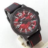 Jual Expedition E6671 Jam Tangan Pria Dial Army Merah Nylon Strap Hitam Branded Original