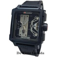 Expedition E6695MB Jam Tangan Pria Strap Leather Hitam