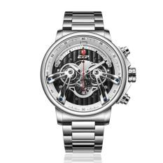 Expedition EXP - Jam Tangan Pria - Silver-Putih - Stainless Steel - 6734 MCBSSSL
