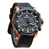 Beli Expedition Jam Tangan Premium Pria Leather Strap E 6606 Black Gold Seken