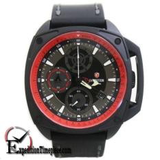 Expedition Jam Tangan Pria E-6646-LEATHER - Original (Black)