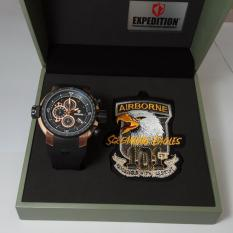 Expedition Jam Tangan Pria Expedition E6335MC Airborne Screaming Eagles Rosegold Stainless Steel