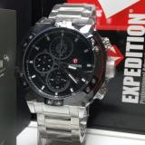 Beli Expedition Jam Tangan Pria Expedition E6385M Chronograph Black Silver Stainless Steel Yang Bagus