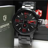 Beli Expedition Jam Tangan Pria Expedition E6386M Black Stainless Steel Dial Red Chronograph Cicilan