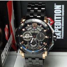 Expedition Jam Tangan Pria Expedition E6402MC Chronograph Black Rosegold Stainless Steel