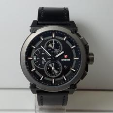 Spesifikasi Expedition Jam Tangan Pria Expedition E6612Mc Chronograph Black Stainless Steel Leather Watch Baru