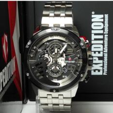 Expedition Jam Tangan Pria Expedition E6700MC Chronograph Silver List Black Stainless Steel
