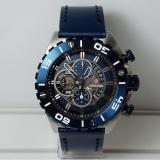 Diskon Expedition Jam Tangan Pria Expedition E6755Mc Chronograph Silver Dial Blue Stainless Steel Leather Blue Indonesia