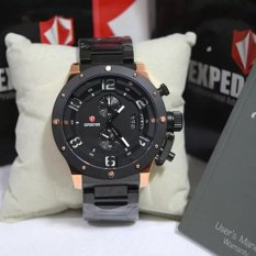 Expedition - Jam Tangan Pria - Leather Strap - E6381DB Rose Gold