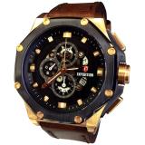 Spesifikasi Expedition Jam Tangan Pria Strap Kulit Cokelat Gold E281Lycoklat Tua Dan Harganya